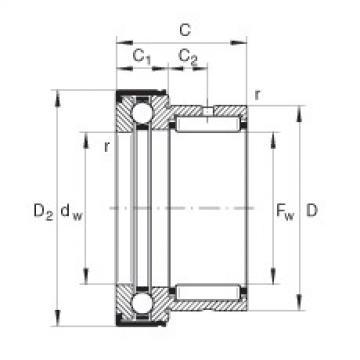 FAG Nadel-Axialkugellager - NKX45-Z-XL