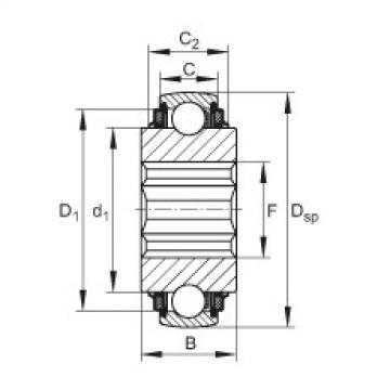 FAG Self-aligning deep groove ball bearings - SK014-205-KTT-B-L402/70
