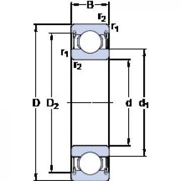 المحامل D/W ER1212-2ZS SKF