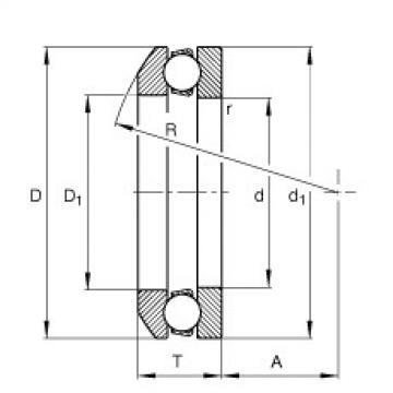 FAG محوري الأخدود العميق الكرات - 53330-MP