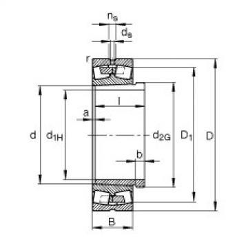 FAG محامل كروية - 23996-B-K-MB + AH3996-H