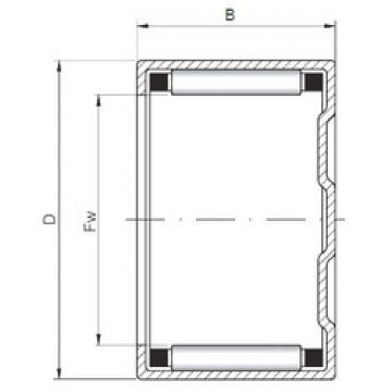 المحامل BK405016 ISO